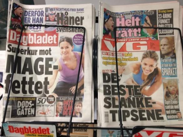 VG og Dagbladet-forsider